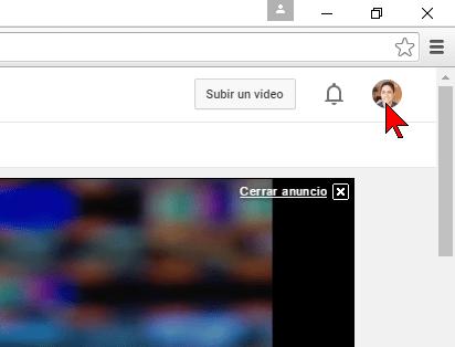 Icono de tu cuenta de YouTube en cómo transferir un canal de YouTube a otra cuenta
