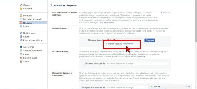 Lista de amigos bloqueados en Facebook en cómo desbloquear a un amigo en Facebook