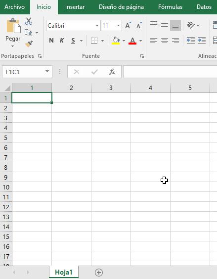 Sólo números en los encabezados en cómo cambiar el estilo de referencia de las celdas en Excel 2016
