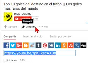 Cómo comenzar un video de YouTube en un minuto y segundo específico