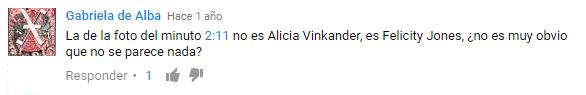 Punto de inicio específico en un comentario en cómo comenzar un video de YouTube en un minuto y segundo específico