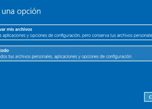 Cómo restablecer tu PC a su estado original desde Windows 10
