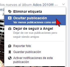 "Ocultar publicación en cómo usar ""Un día como hoy"" de Facebook para borrar tu pasado"