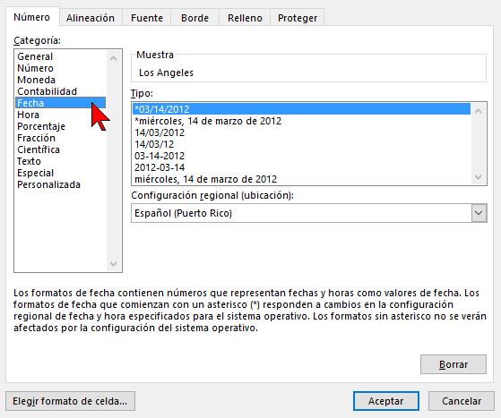 Categorías para Buscar en cómo buscar texto en Excel 2016