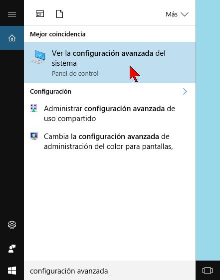 Barra de búsqueda del Escritorio en cómo ajustar los efectos visuales para obtener mejor rendimiento de Windows 10