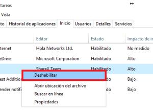 Cómo deshabilitar los programas de inicio de Windows 10