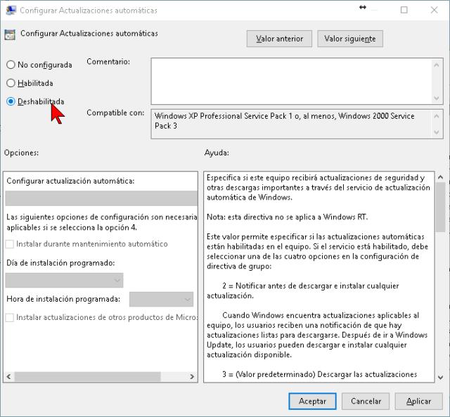 Deshabilitando las Actualizaciones automáticas en cómo deshabilitar las actualizaciones de Windows Update en Windows 10