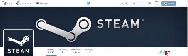 Botón Seguir en un perfil de Twitter en cómo seguir a alguien Twitter