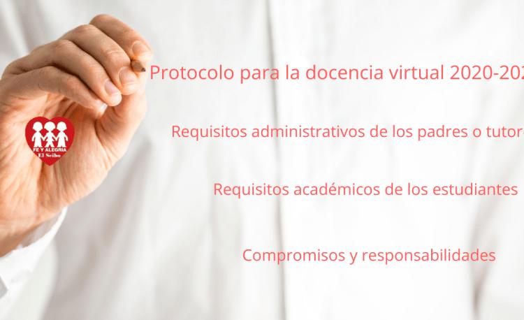 Protocolo para la docencia virtual 2020-2021