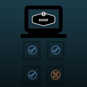 computer in fase di backup
