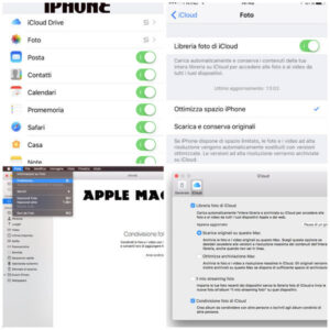 come attivare foto icloud iphone mac