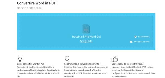 convertire word in pdf italiano gratis online
