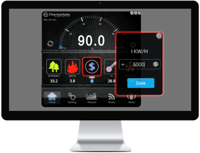 Thermaltake «DPS G PC App 2.0» - Electricity Cost