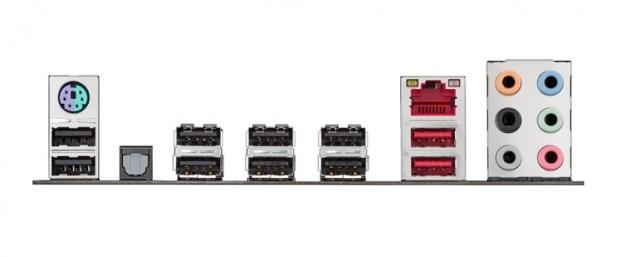 ASUS 970 Pro Gaming Aura motherboard_Back IO