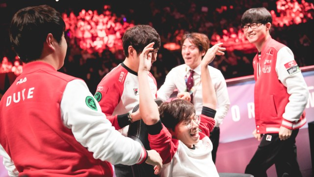 ROX Tigers versus SK Telecom T1 at the 2016 World Championship - Semifinals at Madison Square Garden in New York City, New York, USA on 21 October 2016.