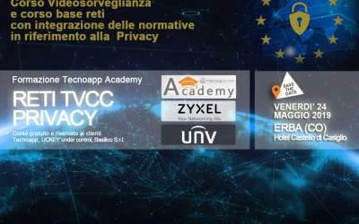 Corso Videosorveglianza IP Reti Normative Privacy GDPR – Erba 24 Maggio 2019