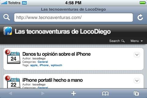 Este blog visitado con un iPhone