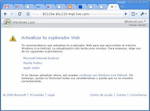 MSN Hotmail desde Google Chrome