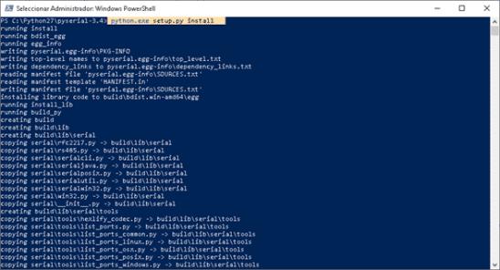 Pyserial para instalar BCNC