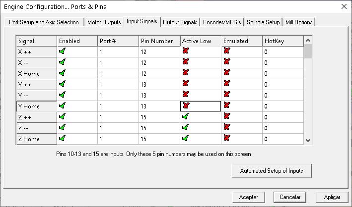 Mach3 input signal