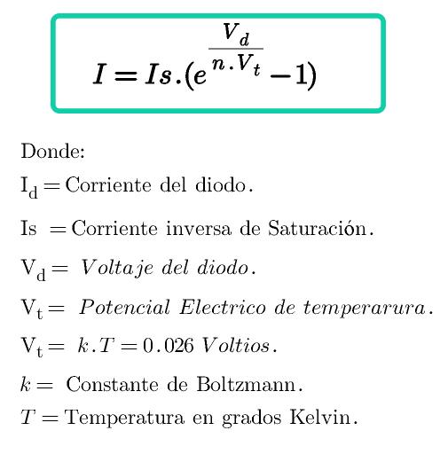 formula del diodo