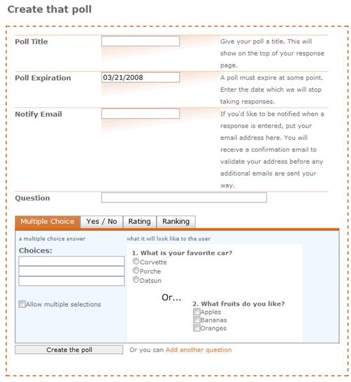 Crie uma enquete gratuitamente