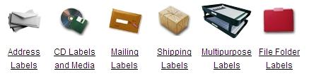 Modelos de etiquetas online