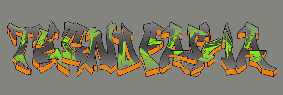 Crie um texto com efeito graffiti