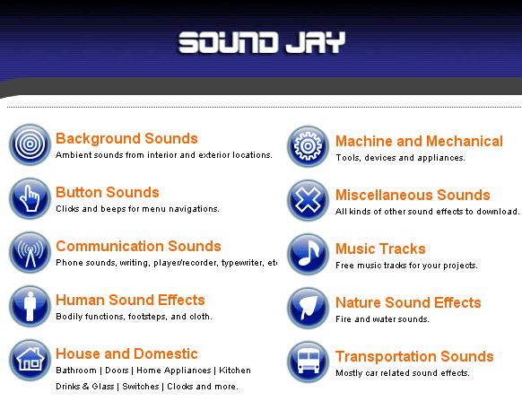 Coleção de efeitos sonoros grátis