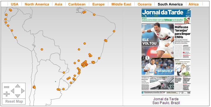 Veja a primeira página de jornais do mundo