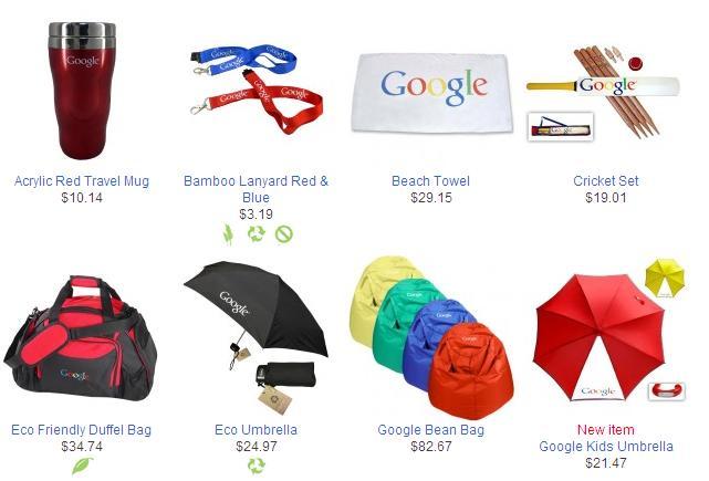 Loja Google: produtos personalizados