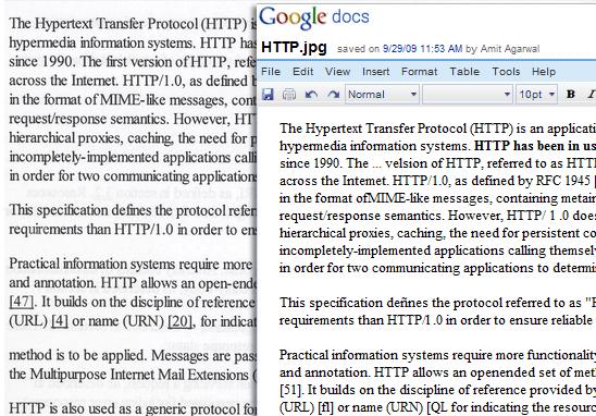 OCR do Google transforma imagem em texto