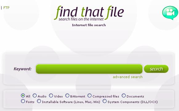 Buscador de arquivos na Internet