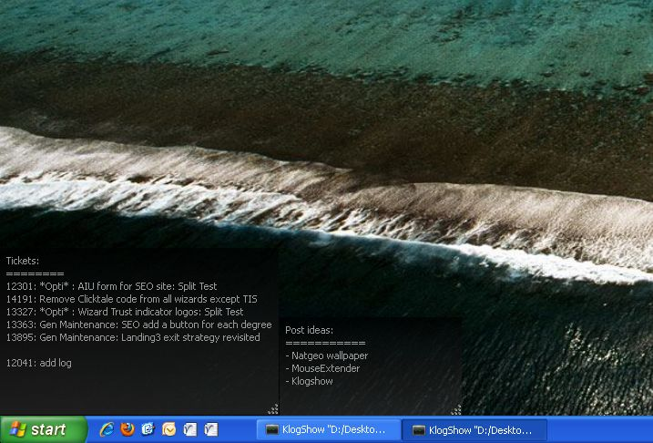 Exiba um arquivo de texto no desktop