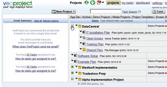 Ferramenta online para gerenciamento de projetos