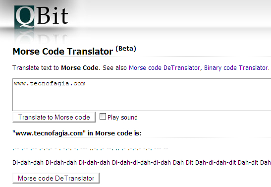 Tradutor de Código Morse online?