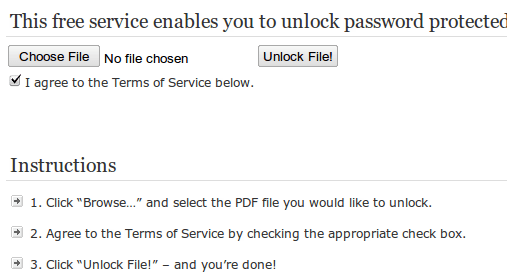 Como desbloquear PDF online
