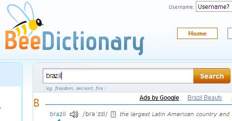 Dicionário de pronúncia em inglês