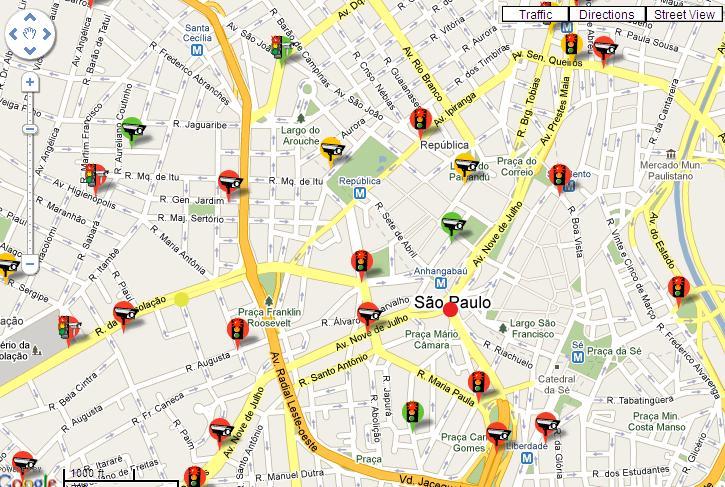 Mapa de radares online, para celular, iPhone, Android e GPS
