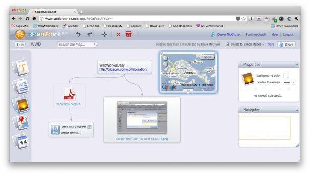 Ferramenta online para organizar brainstorm