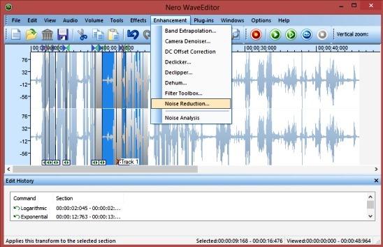 Nero WaveEditor: Editor de áudio grátis