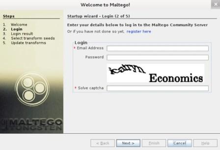 registrazione a maltego