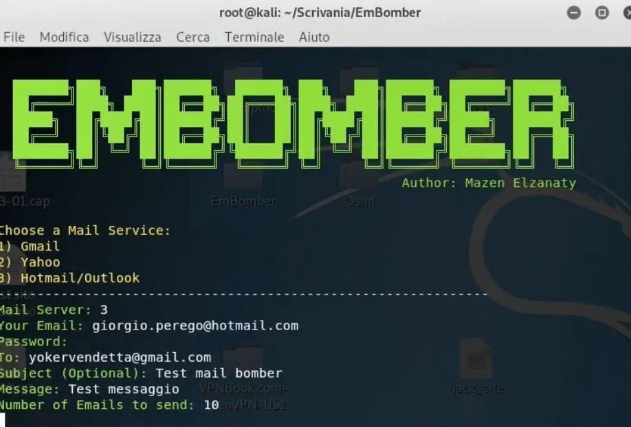Come inviare email massive con Embomber