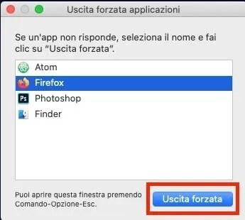 Come forzare chiusura programmi su Mac