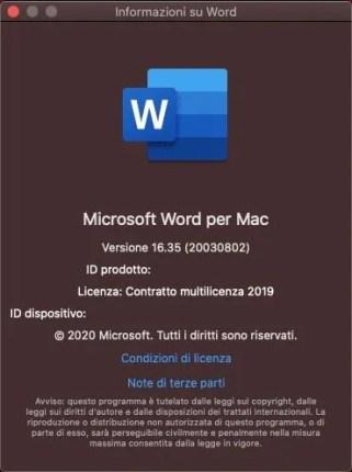 Attivazione Office 2019 su Mac