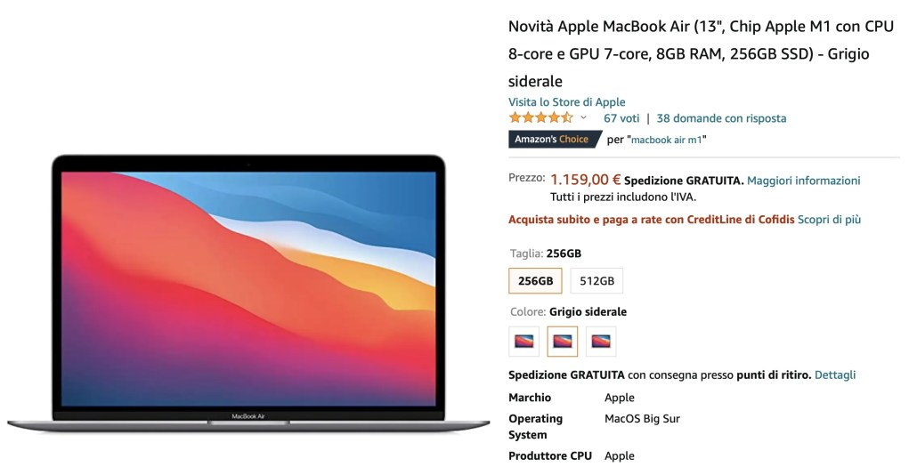 Guida Acquisto Notebook Carta Docente [Gennaio 2021]: Apple MacBook Air M1