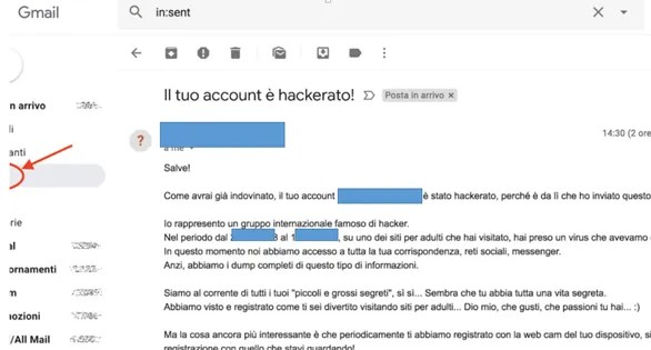 Link web nelle email di Phishing