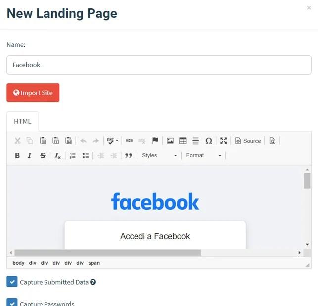 Attacco Phishing con Gophish gratis