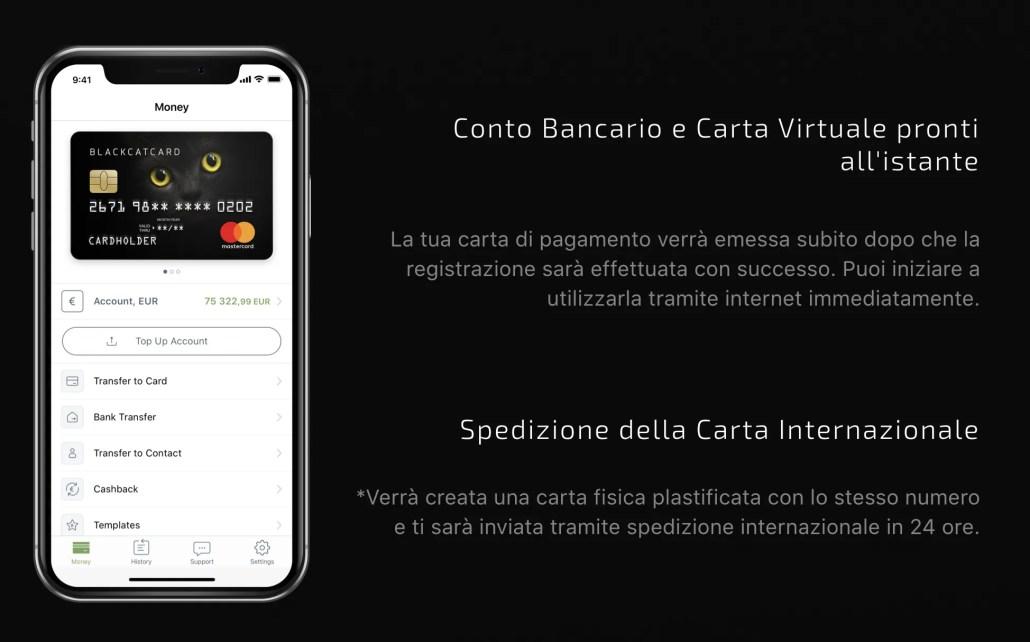 Black Cat Card: 20€ bonus + 2 CashBack