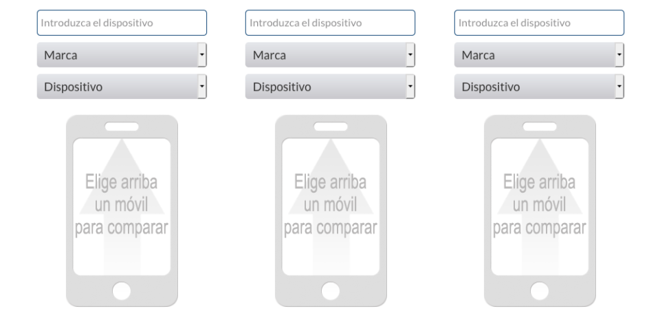 Comparador de móviles Movilzona